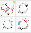 memphis style cards set vector image vector image