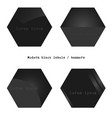 modern black polygon labels vector image vector image
