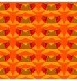 Multicolor geometric pattern in bright red vector image vector image