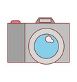photo camera icon in colorful silhouette with thin vector image