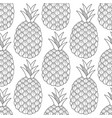 pineapples tropical fruits black and white vector image vector image