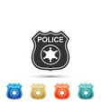 police badge icon isolated sheriff badge sign vector image