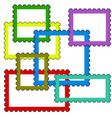postage stamps frames vector image