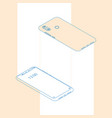 realistic flat outline modern two smart phone vector image vector image
