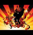 rock star grunge vector image vector image
