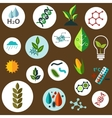 Science and agronomic research flat icons vector image