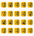 set different emoticons vector image