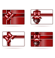 set of gift cards vector image vector image