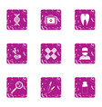 shelter icons set grunge style vector image vector image