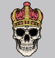 Skull king crown vector vector image