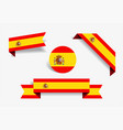 spanish flag stickers and labels vector image vector image