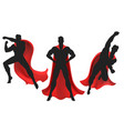 superhero silhouette set vector image