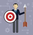 Target businessman strategy concept flat modern vector image vector image