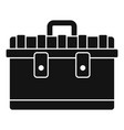 tool box icon simple style vector image vector image