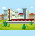 transportation in modern city vector image vector image