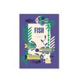 tropical fish banner template trendy seasonal vector image vector image