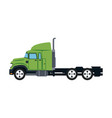 truck cabin transport industry trailer vehicle vector image