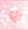 valentines day heart bokeh vector image vector image