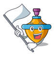 with flag spinning top mascot cartoon vector image