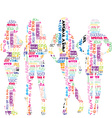 Women silhouettes patterned in advertisement vector image