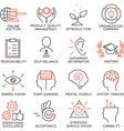 Set of icons related to business management - 6 vector image