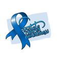 Prostate cancer awareness ribbon vector image