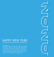 2020 happy new year background template minimal vector image
