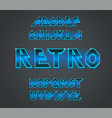 80 s retro font typography for flyers vector image