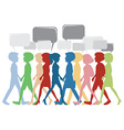 A template with people and empty callouts vector image vector image