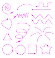 arrows pink vector image vector image