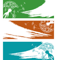 Banner set with dandelion vector image vector image
