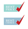 best price and choise vector image vector image