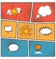 blank speech bubbles vector image