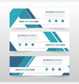 blue abstract triangle corporate business banner vector image vector image