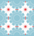 blue red mosaic pattern modern contrast geometric vector image vector image