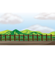 bridge mountain lookout vector image