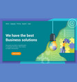 business solutions flat design concept vector image
