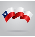 Chilean waving Flag vector image