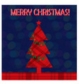 christmas greeting card with christmas tree on the vector image