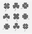 clover leaves icon vector image vector image