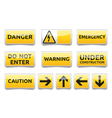 Danger warning sign set vector image