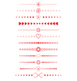 design elements made of valentines vector image vector image