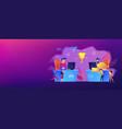 e-sport fans concept banner header vector image