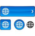 Earth button set vector image vector image