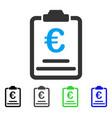 euro prices flat icon vector image