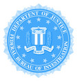 fbi seal in blue vector image vector image