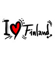 finland love vector image