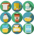 Flat round icons for daily products vector image