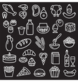 Food outline black vector image