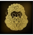 Golden beard and mustache of Santa Claus vector image vector image